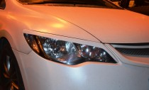 Реснички на фары Хонда Цивик седан (накладки до низа фары Civic 4d)
