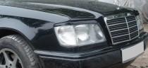 Реснички на передние фары Мерседес Е124 (накладки фар)