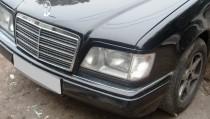 Установка ресничек на фары Mercedes W124 (комплект 2шт.)