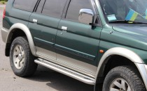 Пороги труба с листом Mitsubishi Pajero Sport 1