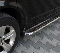 Пороги труба с листом Mitsubishi Pajero Sport 2 с 2008- года
