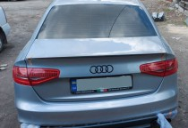 Лип спойлер на Audi A4 B8 седан установка фото