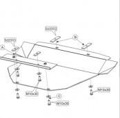 Защита коробки передач Мерседес С-Класс W202 (защита КПП Mercedes C-Class W202)