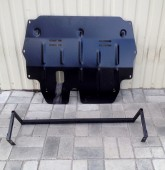 Защита двигателя Шкода Фабия 2 (защита картера Skoda Fabia 2)