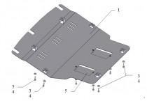 Защита картера БМВ 5 Е39 (защита двигателя BMW 5 E39 V8)