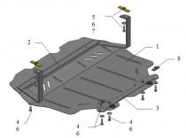 Защита моторного отсека Skoda Superb (защита на движок Шкода Суп