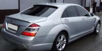 Спойлер Мерседес W221 (задний спойлер на багажник Mercedes W221)