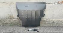 Защита двигателя Мазда 3 Bk под радиатор (защита картера Mazda 3 Bk увеличеная)