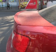 Накладка на крышку багажника Митсубиси Галант 9 (фото, ExpressTu