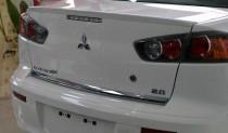 Спойлер на багажник Митсубиси Лансер 10 (накладка-спойлер Lancer