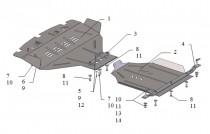 Защита редуктора Субару Легаси 4 (защита для редуктора Subaru Legacy 4)