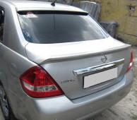 Спойлер заднего стекла Nissan Tiida (под покраску)