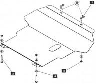 Защита двигателя Фольксваген Гольф 2 (защита картера Volkswagen Golf 2)