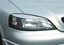 Реснички на фары Опель Астра G (накладки фар Opel Astra G Classic)