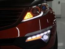 LED-DRL Дневные ходовые огни Киа Спортейдж 3 (ДХО для Kia Sportage 3)
