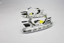 Дневные ходовые огни Mercedes-Benz W204 (ДХО для Мерседес W204 хромированные)