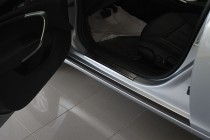 Накладки на пороги Опель Инсигния (защитные накладки Opel Insign