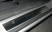 Накладки на пороги Опель Зафира Б (защитные накладки Opel Zafira B)