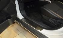 Накладки на пороги Пежо 4008 (защитные накладки Peugeot 4008)