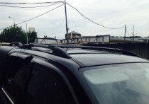 Рейлинги Фольксваген Амарок Crown алюминий (рейлинги на крышу Volkswagen Amarok)