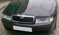 Реснички на фары Шкода Октавия А4 (накладки фар Skoda Octavia Tour A4)