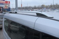 Рейлинги на Фиат Добло 2 Crown алюминий (рейлинги Fiat Doblo 2)