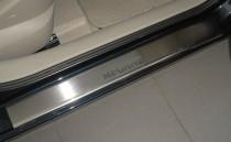 Накладки на пороги Рено Меган 2 (защитные накладки Renault Megane 2)
