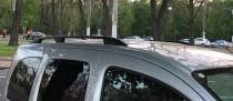 Рейлинги Рено Кангу 2 (рейлинги на крышу Renault Kangoo 2 Crown.алюминий)