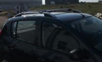 Рейлинги Рено Сандеро Crown алюминий (рейлинги на крышу Renault Sandero)