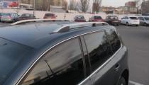 Рейлинги Фольксваген Туарег 1 Crown алюминий (рейлинги на крышу Volkswagen Touareg 1)