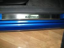 Накладки на пороги Субару Импреза 3 (защитные накладки Subaru Impreza 3)