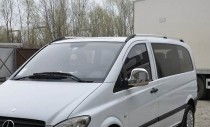 Рейлинги на Мерседес Вито В 639 (рейлинги Mercedes Vito W639 концевик.пласт.)