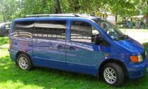 Рейлинги на Мерседес Вито В 638  концевик пластик (рейлинги Mercedes Vito W638)