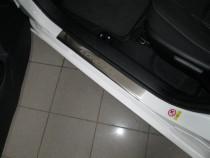 Накладки на пороги Тойота Королла 11 (защитные накладки Toyota Corolla 11)