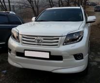 Тюнинг реснички на передние фары Toyota Land Cruiser Prado 120 (