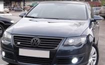 Реснички на фары Фольксваген Пассат Б6 (накладки фар Volkswagen Passat B6)