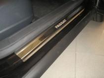 Накладки на пороги Фольксваген Пассат В6 (защитные накладки Volkswagen Passat B6)