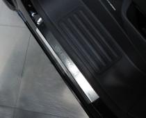 Накладки на пороги Фольксваген Транспортер Т5 (защитные накладки