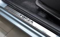 Накладки на пороги ЗАЗ Форза (защитные накладки ZAZ Forza)