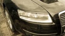 Реснички на фары Ауди А6 С6 (накладки фар Audi A6 C6 передние)