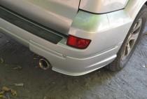 Тюнинг накладки на задний бампер Тойота Прадо 120 (ЭкспрессТюнин