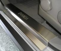 Накладки на пороги Шевроле Эванда (защитные накладки Chevrolet Evanda)