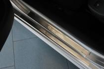Накладки на пороги Ситроен С-Элизе (защитные накладки Citroen C-Elysee)