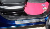 Накладки на пороги Фиат Фиорино Кубо (защитные накладки Fiat Fiorino Qubo)