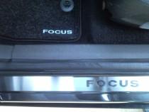 Накладки на пороги Форд Фокус 2 5Д (защитные накладки Ford Focus 5D)