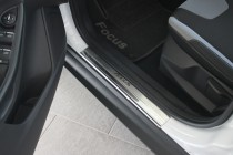 Nataniko Накладки на пороги Форд Фокус 3 5Д (защитные накладки Ford Focus 3 5D)