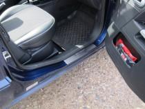 заказать Накладки на пороги Форд Фьюжн (защитные накладки Ford F