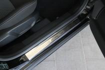 Накладки на пороги Форд Мондео 4 (защитные накладки Ford Mondeo 4)