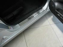 Накладки на пороги Хонда Цивик 8 4Д (защитные накладки Honda Civic 8 4D)