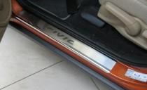 Накладки на пороги Хонда Цивик 8 5Д (защитные накладки Honda Civic 8 5D)